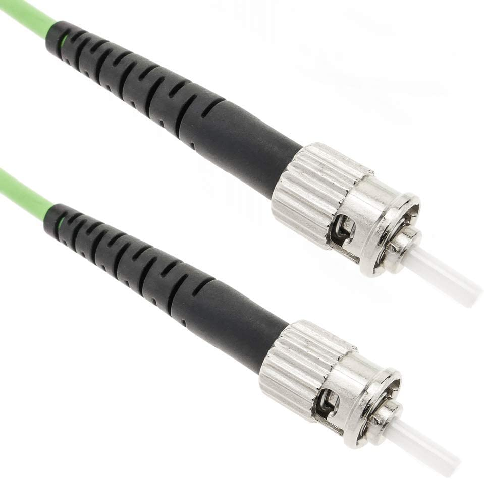 Cable de Fibra /óptica OM5 multimodo simplex 50/µm//125/µm ST//PC a ST//PC 100Gb de 1 m BeMatik