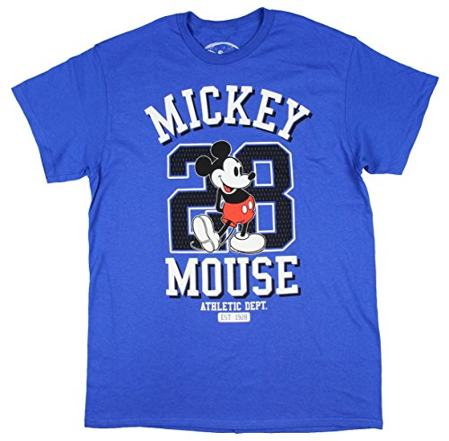 Hybrid Disney Mickey Mouse Athletic Dept. #28 Graphic Men's T-shirt ()