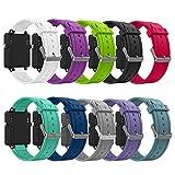 Band for Garmin Vivoactive, Soft Silicone Wristband Replacement Watch Band for Garmin Vivoactive Sports GPS Smart Watch (10Pcs)