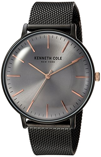 Kenneth Cole New York Men's Quartz Stainless Steel Casual Watch, Color:Black (Model: KC15183004)