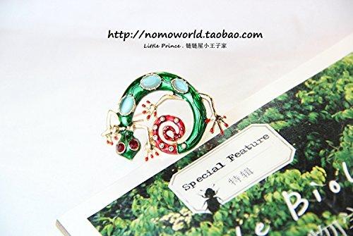 Original single high-grade personality chameleon lizard brooch inlaid opal wool coat exaggerated fashion brooch