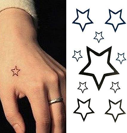 Oottati Tatuajes Temporales Estrella Mano (Juego De 2): Amazon.es ...