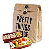retro 11 breads - Hangnuo Insulated Brown Paper Lunch Bags Reusable, Retro Lunch Sacks for Adults Work Office & Kids School Picnic, Pretty Things Inside - 11