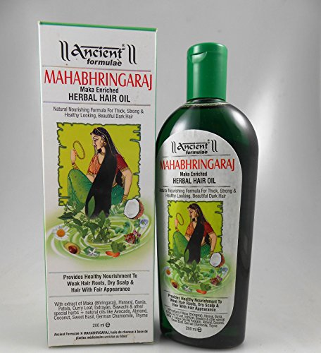 Hesh Ancient Formulae Mahabhringaraj (Maka Enriched) Herbal Har Oil 200ml (Curry Leaves And Coconut Oil For Hair Growth)