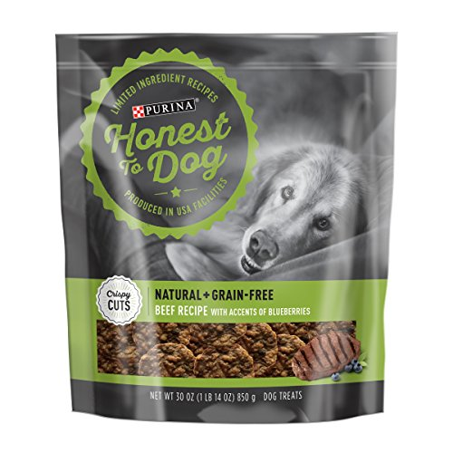 Crispy Cookies Recipe - Honest To Dog Made in USA Facilities, Limited Ingredient, Grain Free Dog Treats; Crispy Cuts Beef Recipe - 30 oz. Pouch