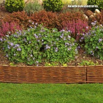 Videx Stralsund - Bordura para jardín (delimitador para césped, 20 x 100 cm): Amazon.es: Jardín