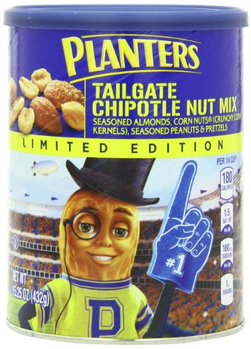 Amazon.com: Planters Limited Edition Tailgate Nut Mix Canister, Chipotle, 15.25oz
