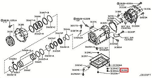 Infiniti Genuine Torque Converter Housing Case Oil Pan Assy 31390-1XJ0C QX80//QX56 QX70//FX QX50//EX Q60//G COUPE Q60//G CONVERTIB Q50 M37//56 M35//45 M HYBR G35//37//25 SEDAN