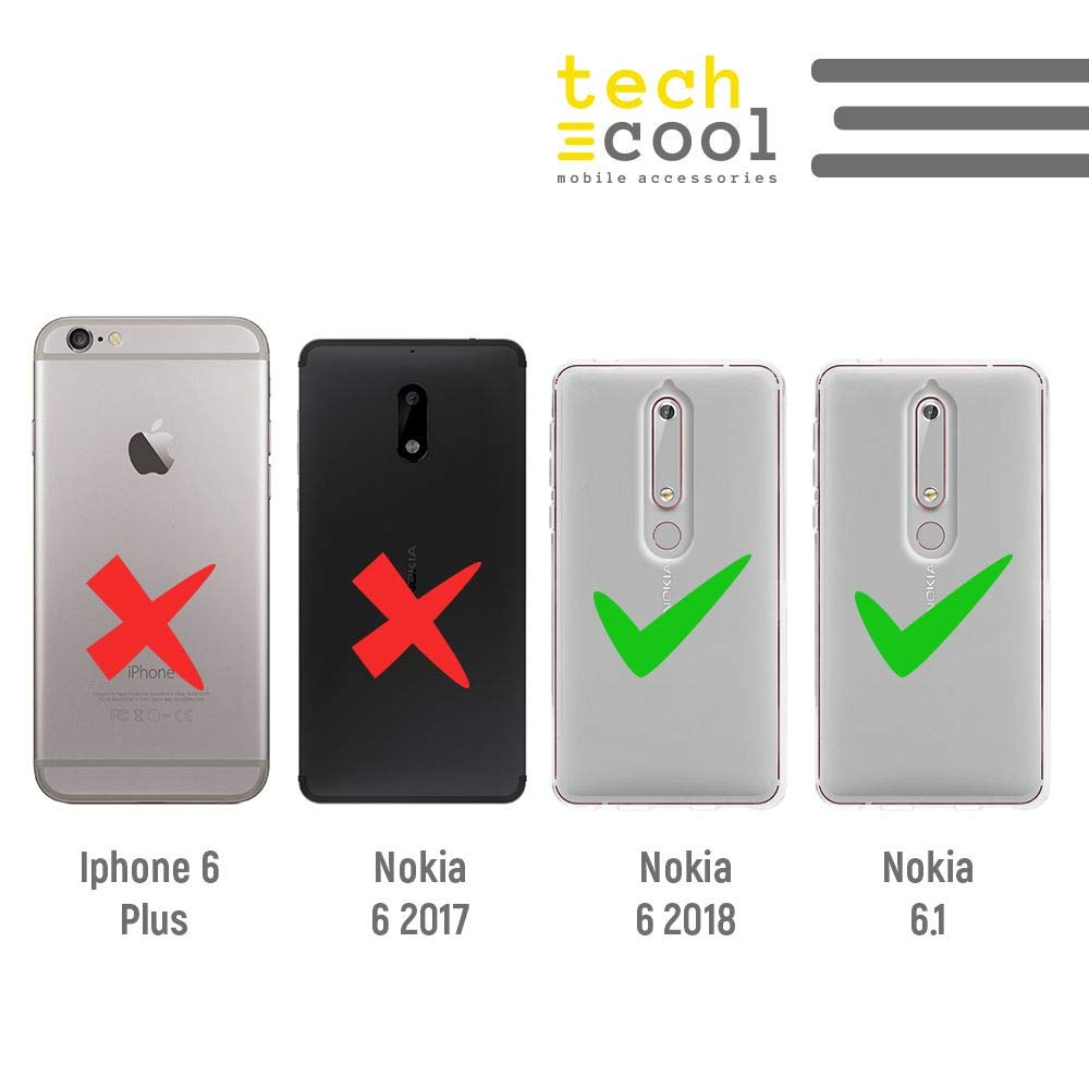 Bandera Espa/ña Transparente Funnytech/® Funda Silicona para Nokia 6.1 Gel Silicona Flexible, Dise/ño Exclusivo