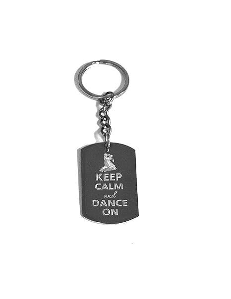 Amazon.com: Keep Calm And Dance On Baile – Anillo de metal ...