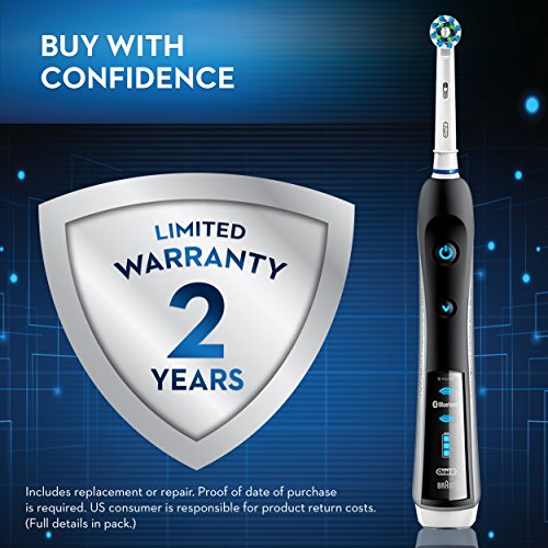 Oral-B 7000 SmartSeries Rechargeable Power Electric Toothbrush with 3 Replacement Brush Heads, Bluetooth Connectivity and Travel Case, Amazon Dash Replenishment Enabled by Oral-B (Image #11)