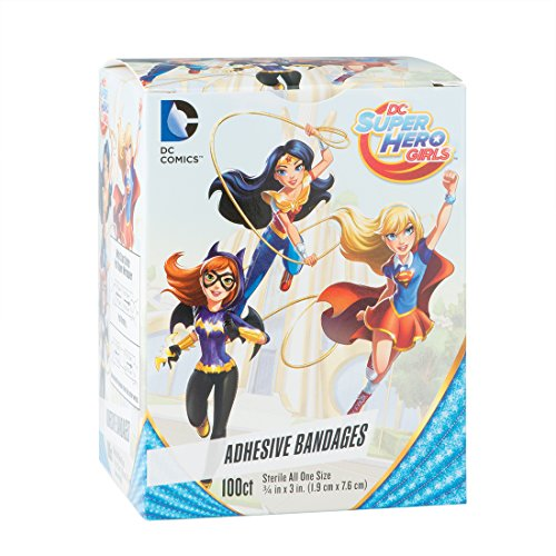 DC Super Hero Girls Bandages - First-Aid Supplies - 100 per Pack