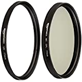 AmazonBasics UV Protection Lens Filter and Circular Polarizer Lens Set - 77 mm