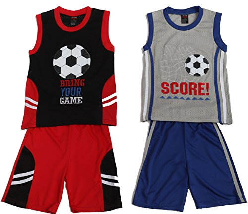 At The Buzzer 44056-24M Two Piece Short Set (Pack of 2)
