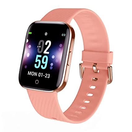 Smartwatch - Reloj Inteligente Mujer Impermeable con Cronómetro, Pulsera Actividad Inteligente para Deporte, Reloj de Fitness con Podómetro Smart ...