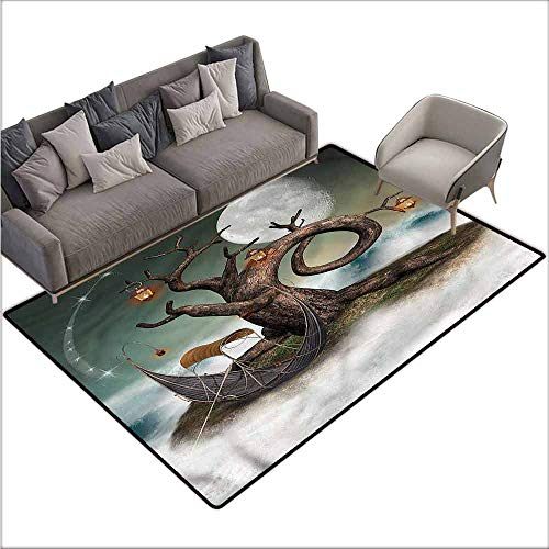 - Carpet for Living Room Fantasy,Leafless Tree with Lanterns 48