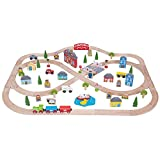Bigjigs Rail Town and Country Train Set - 101 Pieces