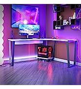 NTENSE Genesis L-Shaped CPU Stand, Corner, Home Gaming, Writing Workstation, Battle Station, Ergo...