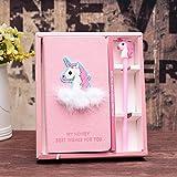 KASU Unicorn Gifts for Girls, Cute Unicorn Stationery Diary Notebook and Pen, Journal Set