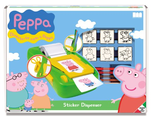Multiprint - 8875 - Coffret D'autocollant Machine/7 Tampons - Peppa Pig