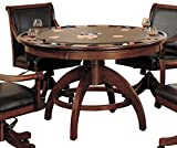 Hillsdale Furniture Palm Springs Game Table, Medium Brown Cherry