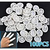 100Pcs Nail Art Latex Rubber Finger Cots Protector Gloves Powder by GOkustore