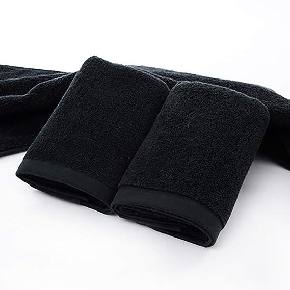 Maiyatang La Toalla de algodón Negra, la absorción de Agua Fuerte, la Salud y la protección del Medio Ambiente no se descolora, 100g120g150g,100g: ...
