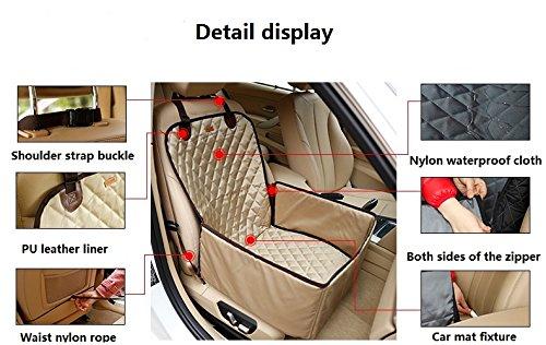 Amazon.com : Bailuoni 2 in 1 Foldable Waterproof Pet Car Back Seat ...