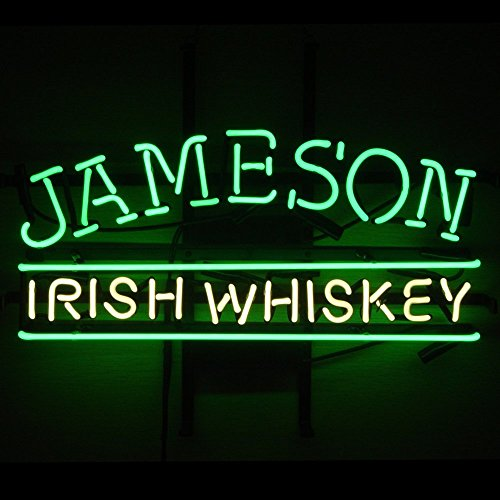 Neon Sign Display - Jameson Irish Whiskey Neon Sign Bar Pub Neon Sign Display Handicrafted Real Glass Tube19x15 The Fastest Free Shipping