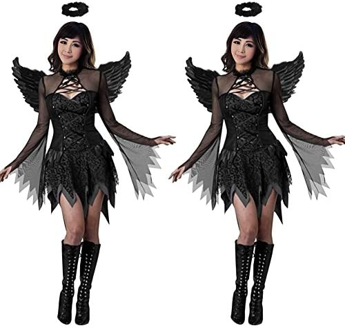 misscat oscuro disfraz de ángel adulto disfraz de Halloween Raven ...