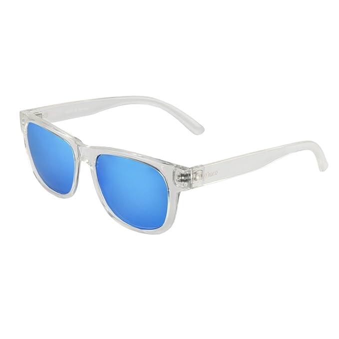 Duco Gafas de sol de metal Gafas de sol polarizadas unisex angulares con protección UV400 para