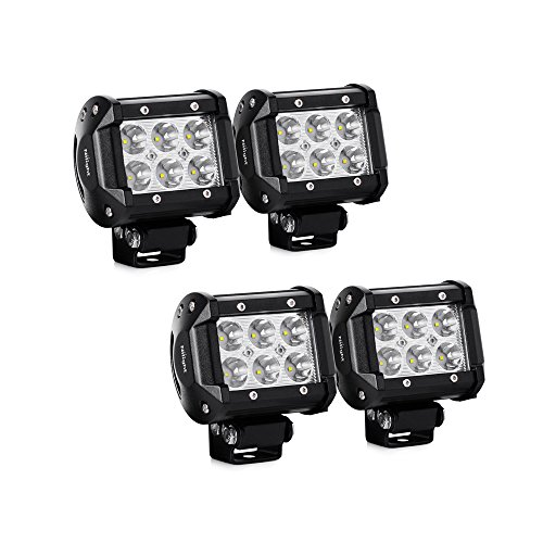 LED Light Bar Nilight 4PCS 18W 1260lm Spot - Led Light Bar Spot