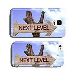 Next Level wooden sign with a beach on background cell phone cover case iPhone6