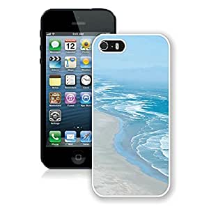 Awesome Slim Apple Iphone 5s Case White Soft TPU Cell Phone Protective Case Cover for Iphone 5 Beautiful Beaches Coastline