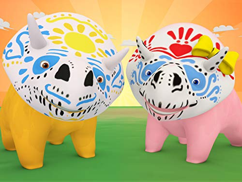 【Halloween】Dia de los muertos - Learn colours with Face paint! / Learn animals sounds/Learns about Music/Learn alphabet ()