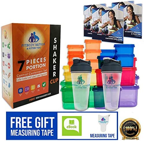 Containers Color Coded Label Engraved Measuring Weight Loss product image