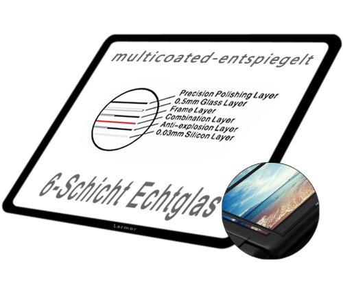 GGS LARMOR LCD Displayschutz Glas für Canon EOS 5D Mark III (die vierte G) - LCD-Echtglas-Protektor für Canon EOS 5D Mark III- 6-Schicht-Prinzip plus Schutzrahmen