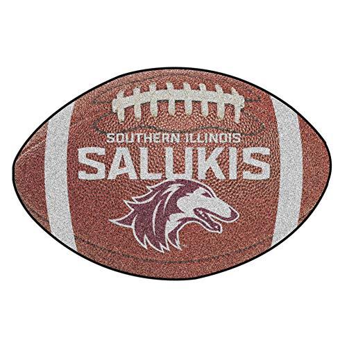 FANMATS NCAA Southern Illinois University Salukis Nylon Face Football - Football Rug Illinois