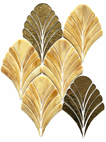 Dazzle Mosaic Stained Glass Tile 12 in. x 12 in. x 3 mm Glass Floor and Wall Tile Stained glass for Kitchen Backsplashes, Bathroom Walls, Spas, Pools by Dazzle Mosaic (10 Pack) by Dazzle Mosaic