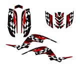 Yamaha Raptor 660 Graphics Decal Kit by Allmotorgraphics NO3500 Red