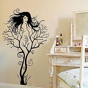 Creative Sexy Girl Tree Removable Wall Sticker Decal Home Decor Vinyl Mural  Art 1pcs