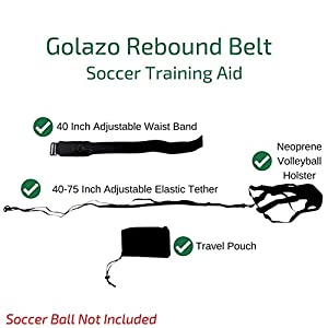 Soccer Training Equipment Ball Rebounder Football Aid To Practice Solo Goal Kicks, Passes, Throws, Ball Control, Dribbling | Tether Returns Soccer Ball To You!