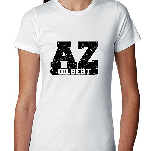 Hollywood Thread Gilbert, Arizona AZ Classic City State Sign Women's Cotton -