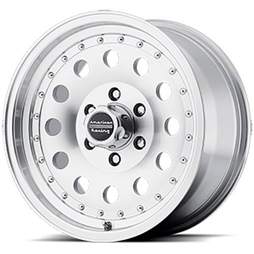 American Racing Outlaw ll Wheel with Clear Coat Machined (17x8''/6x5.5'')