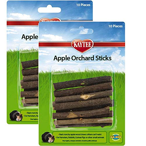 - Superpet (Pets International) SSR61126 Wood Small Animal Apple Orchard Chew Sticks, 20-Count