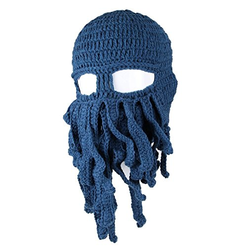 Culturally Insensitive Halloween Costumes - Asc Unisex Barbarian Knit Beanie Octopus
