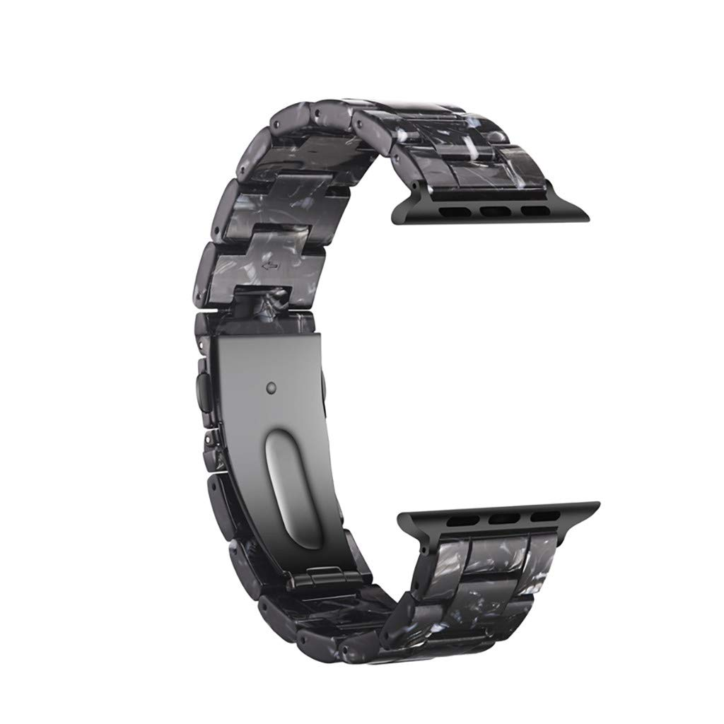 Amazon.com : XBKPLO Compatible for Apple Watch Series 4/3 Band 38mm 40mm Personality Resin Replacement Watch Strap Button Cuff Leopard Bracelet : Pet ...