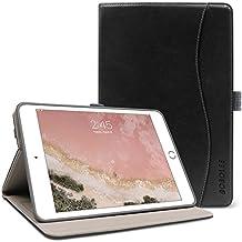 iPad Mini 4 Case,BOBOLEE Vintage Folio Flip Leather Case with Stand Feature, Smart Cover Auto Sleep / Wake Function for Apple iPad Mini 4, 7.9 inch Apple Tablet (Black)