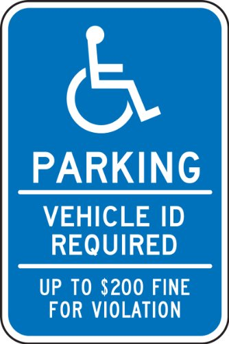 (Accuform Signs FRA201RA Engineer-Grade Reflective Aluminum Handicapped Parking Sign (Minnesota), Legend