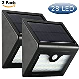 Cinoton 2 Pack 28 LED Outdoor Solar Wall Lights Ultra Bright Security ...